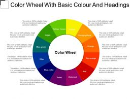 Color Wheel With Basic Colour And Headings
