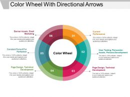 Color Wheel With Directional Arrows