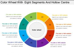Color Wheel With Eight Segments And Hollow Centre