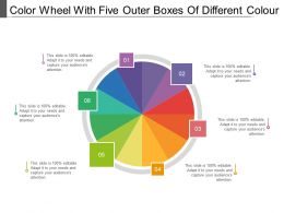 Color Wheel With Five Outer Boxes Of Different Colour