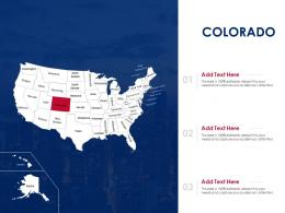 Colorado Map Powerpoint Presentation PPT Template