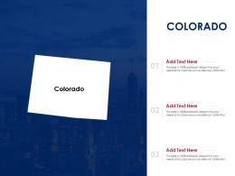 Colorado Powerpoint Presentation PPT Template