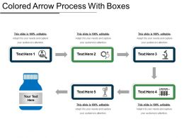 Colored Arrow Process With Boxes