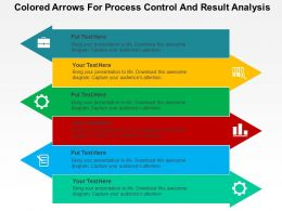 Colored Arrows For Process Control And Result Analysis Flat Powerpoint Design