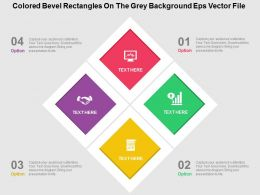 Colored Bevel Rectangles On The Grey Background Eps Vector File Flat Powerpoint Design Flat Ppt Design