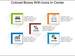 Colored Boxes With Icons In Center
