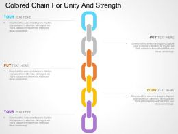Colored Chain For Unity And Strength Flat Powerpoint Design