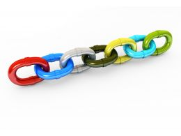 Colored Chain Stock Photo