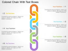Colored Chain With Text Boxes Flat Powerpoint Design