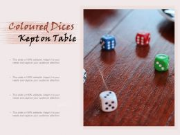 Colored Dices Kept On Table