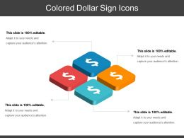 Colored Dollar Sign Icons Ppt Design Templates