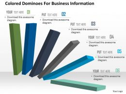 Colored Dominoes For Business Information Powerpoint Template