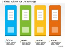 Colored Folders For Data Storage Flat Powerpoint Design
