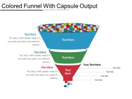 Colored Funnel With Capsule Output