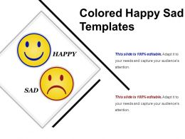 Colored Happy Sad Templates