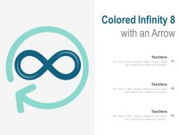 Colored Infinity 8 With An Arrow