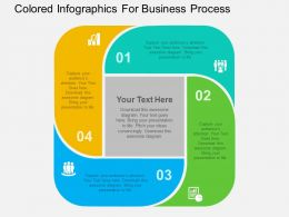 Colored Infographics For Business Process Flat Powerpoint Design