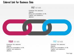 Colored Link For Business Data Flat Powerpoint Design