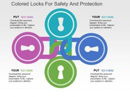 colored_locks_for_safety_and_protection_flat_powerpoint_design_Slide01