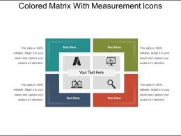 Colored Matrix With Measurement Icons