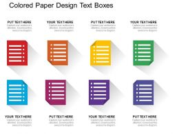 Colored Paper Design Text Boxes Flat Powerpoint Design