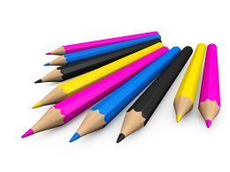 Colored Pencils For Art Stock Photo