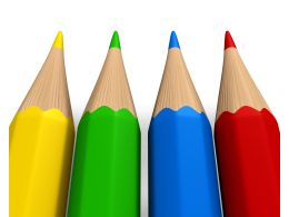 Colored Pencils For Back To School Theme Stock Photo