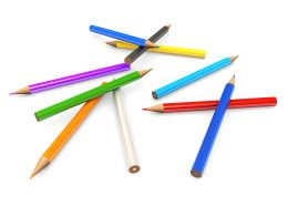 Colored Pencils For Kids Stock Photo