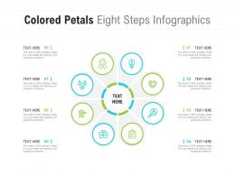 Colored Petals Eight Steps Infographics