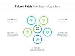 Colored Petals Five Steps Infographics