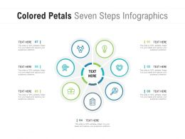 Colored Petals Seven Steps Infographics