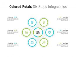 Colored Petals Six Steps Infographics