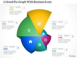 colored_pie_graph_with_business_icons_powerpoint_template_Slide01