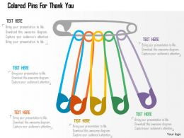Colored Pins For Thank You Flat Powerpoint Design