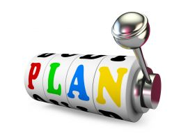 Colored Plan Text With Jackpot Stock Photo