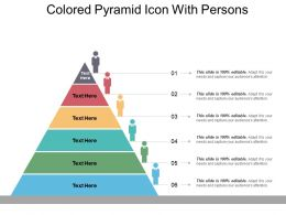 Colored Pyramid Icon With Persons