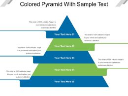 Colored Pyramid With Sample Text