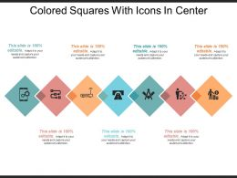 Colored Squares With Icons In Center
