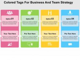 Colored Tags For Business And Team Strategy Flat Powerpoint Design