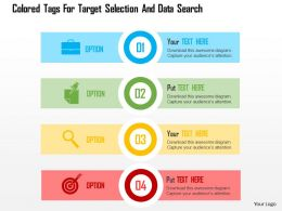 colored_tags_for_target_selection_and_data_search_flat_powerpoint_design_Slide01