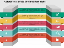 colored_text_boxes_with_business_icons_flat_powerpoint_design_flat_powerpoint_design_Slide01
