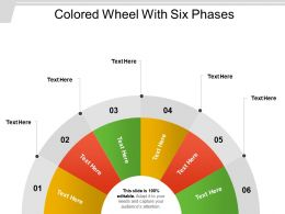 Colored Wheel With Six Phases
