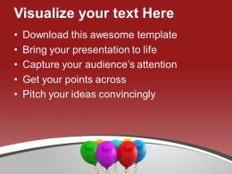 Colorful Birthday Balloons Party Backgroud Powerpoint Templates Ppt Themes And Graphics 0113