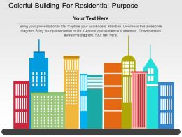 colorful_building_for_residential_purpose_flat_powerpoint_design_Slide01