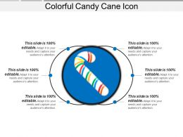 Colorful Candy Cane Icon