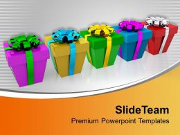 Colorful Christmas Presents PowerPoint Templates PPT Themes And Graphics 0113