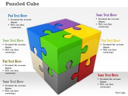 Colorful Cube Graphic Of Puzzle Pieces