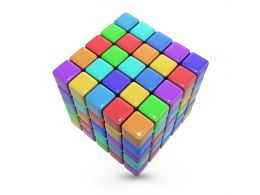 Colorful Cubes For Business And Sales Stock Photo