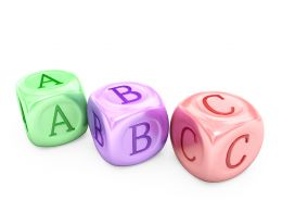 Colorful Cubes Of Abc Letters Stock Photo