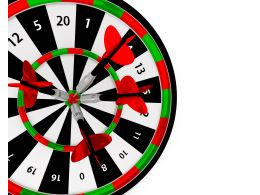 Colorful Dart With Arrow Business Target Stock Photo